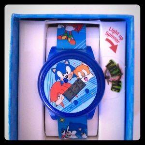 Sega Accessories Sonic The Hedgehog Kids Watch Light Up Spinner Poshmark